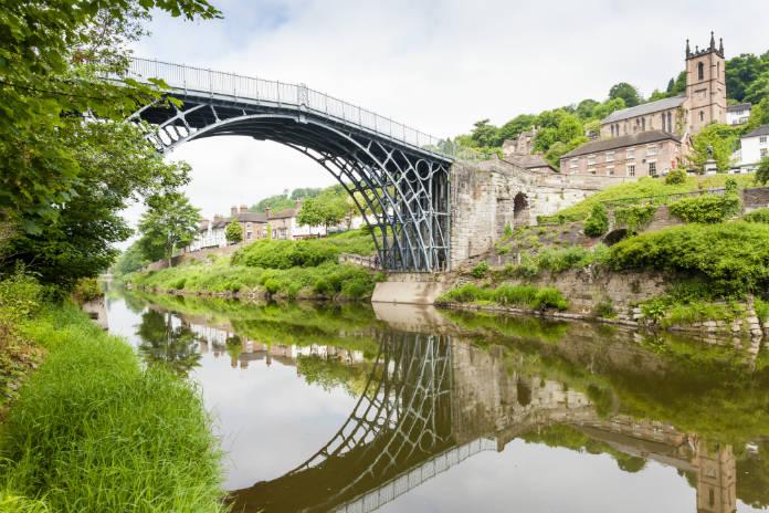 The Iron Bridge over the River Severn in Shropshire