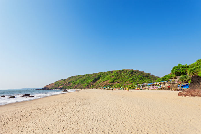 Arambol Beach in Goa, India