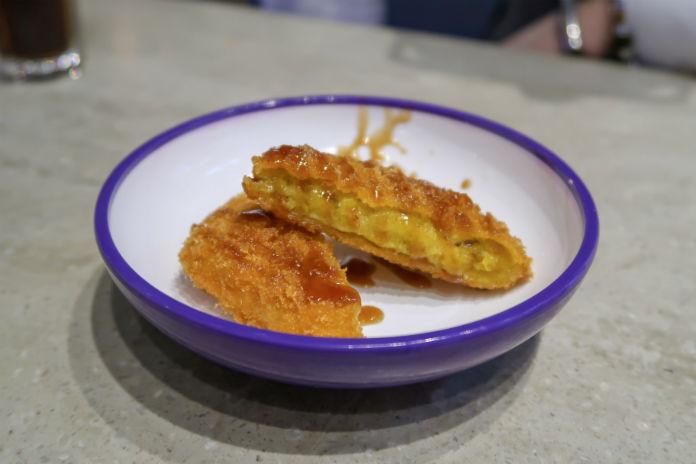 A plate of Yo! Sushi Pumpkin Katsu