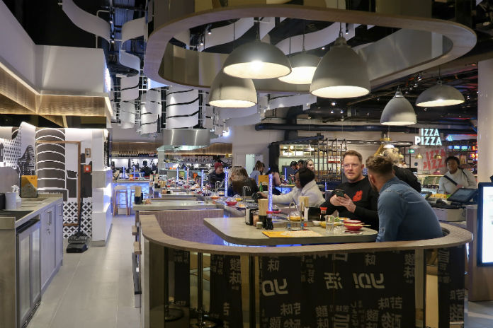 A view inside the new Yo! Sushi restaurant at Selfridges Birmingham