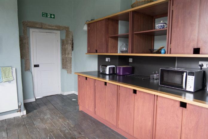 The kitchen at Castle House, Taunton, Somerset, UK