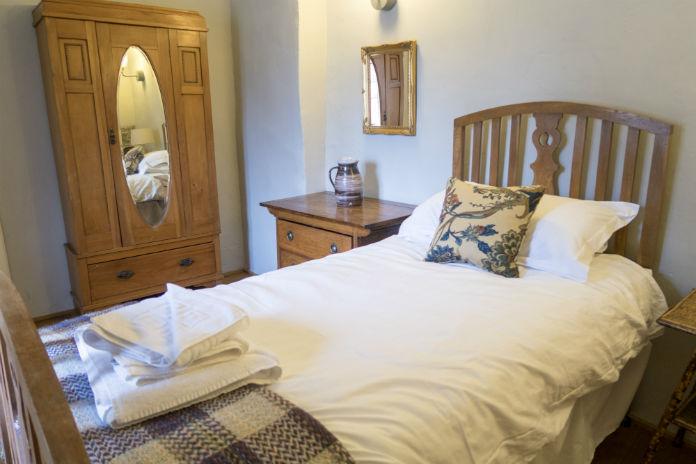 Single bedroom at Castle House at Taunton Castle, Taunton, Somerset, UK
