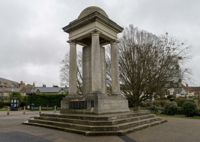 The War Memorial in Vivary Park, Taunton, Somerset (UK)
