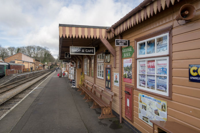 The Bishops Lydeard station on the West Somerset Railway