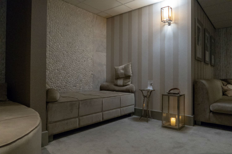 The Relaxation Lounge at the Belfry Spa, Warwickshire, UK