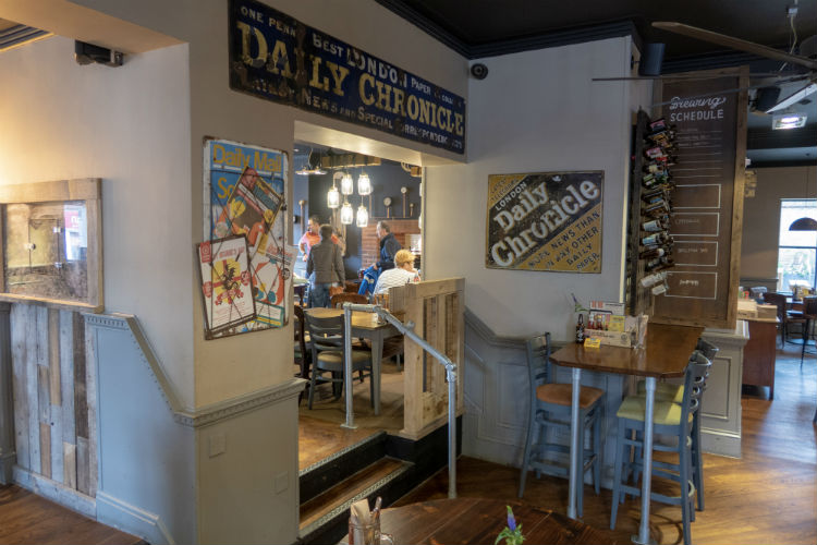 The quirky interior at the Brewhouse & Kitchen in Lichfield, UK