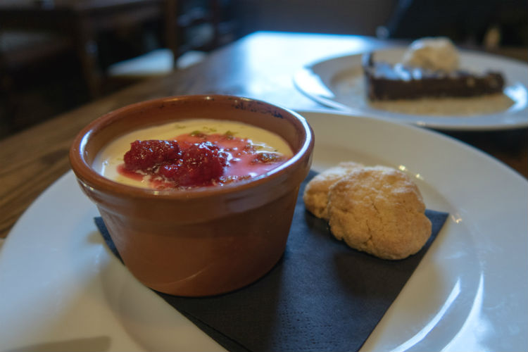 Lemon and Lime Posset at the Brewhouse & Kitchen in Lichfield, UK