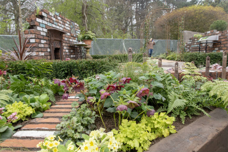 The Reimagined Past Show Garden at RHS Flower Show Cardiff 2018