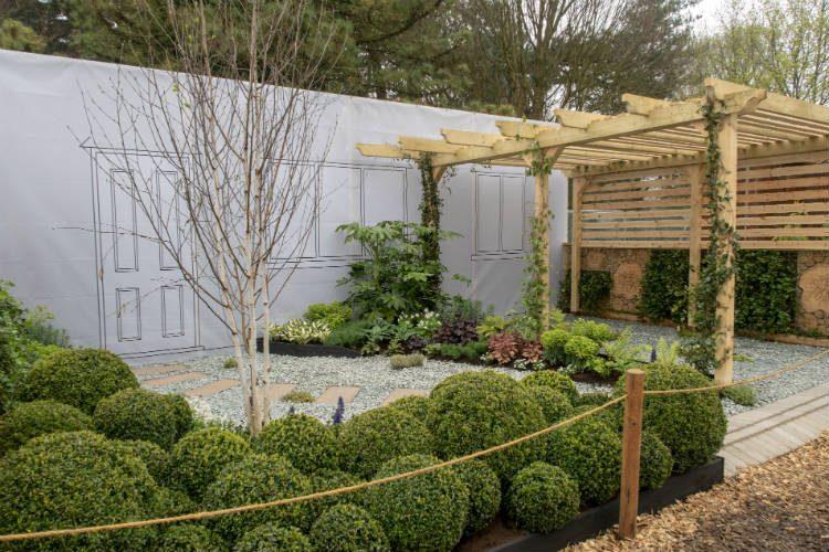 Suburban Euphoria, a contemporary design show garden at the RHS Flowershow Cardiff 2018