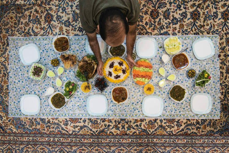 A typical meal in Iran