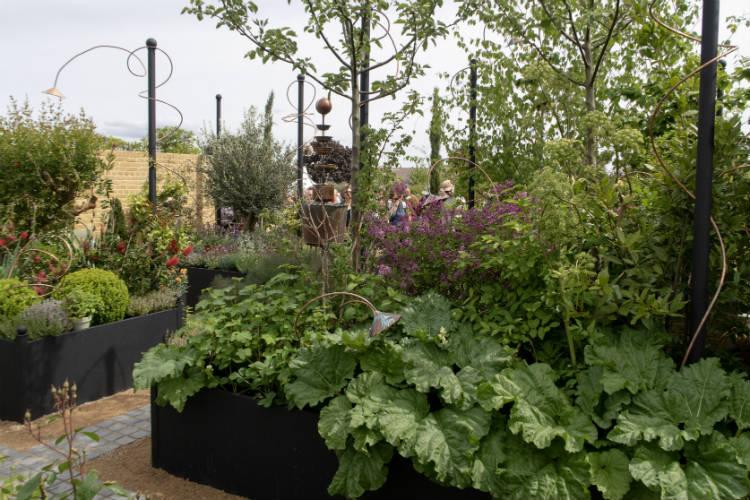 The Perfumer's Garden, a show garden at the RHS Malvern Spring Festival 2018