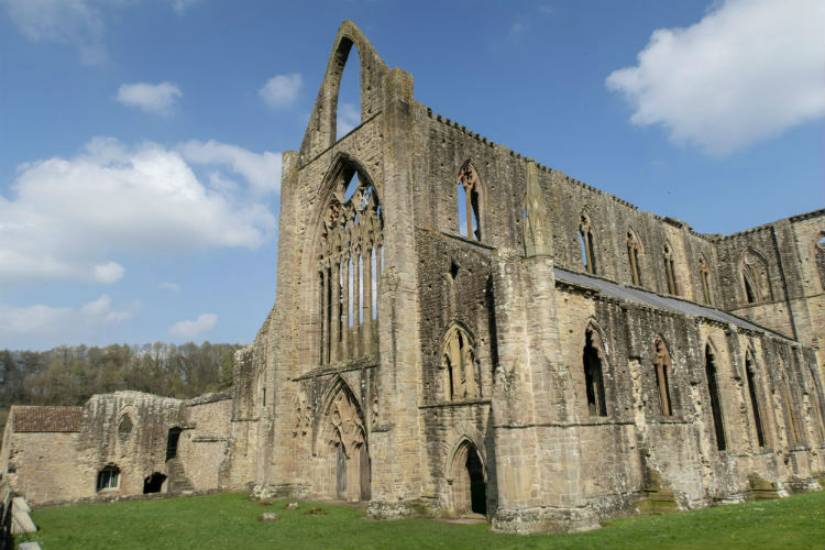 The Great West Window of Tintern Abbey, in Monmouthshire, Wales