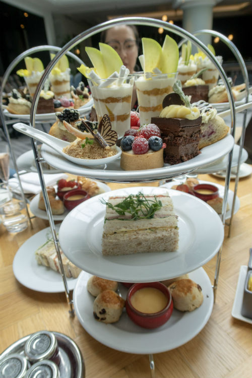 Afternoon tea at the Aria Restaurant in the Hyatt Regency Birmingham