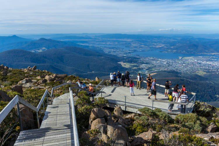 Mount Wellington, overlooking Hobart in Australia