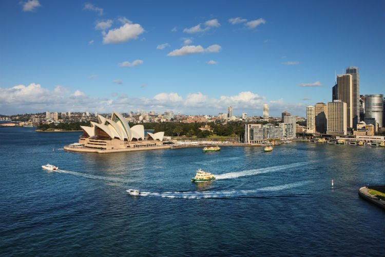 Sydney Harbour, one of the most popular places to visit in Australia