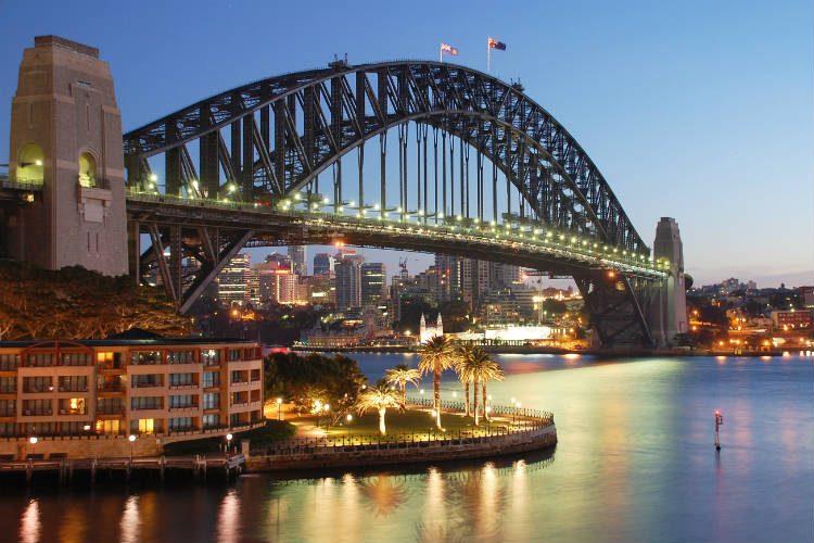 The Sydney Harbour Bridge in Australia