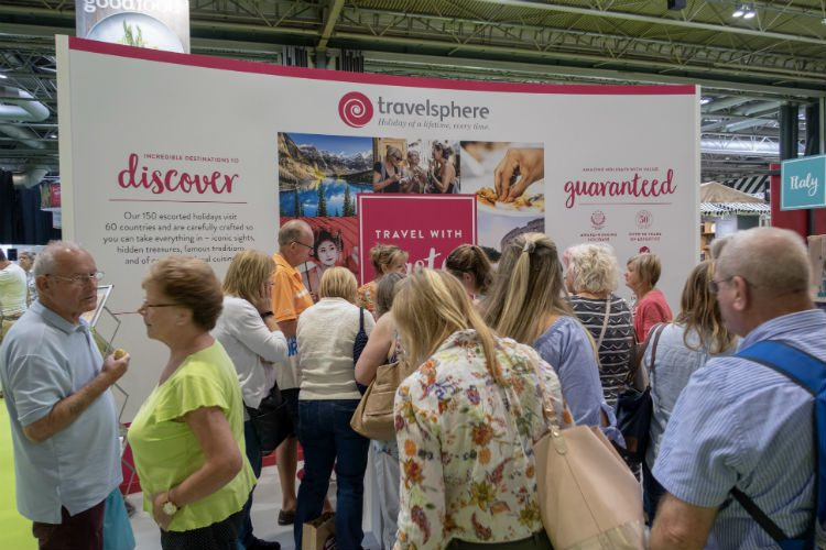 The Travelsphere stand at the BBC Good Food Show