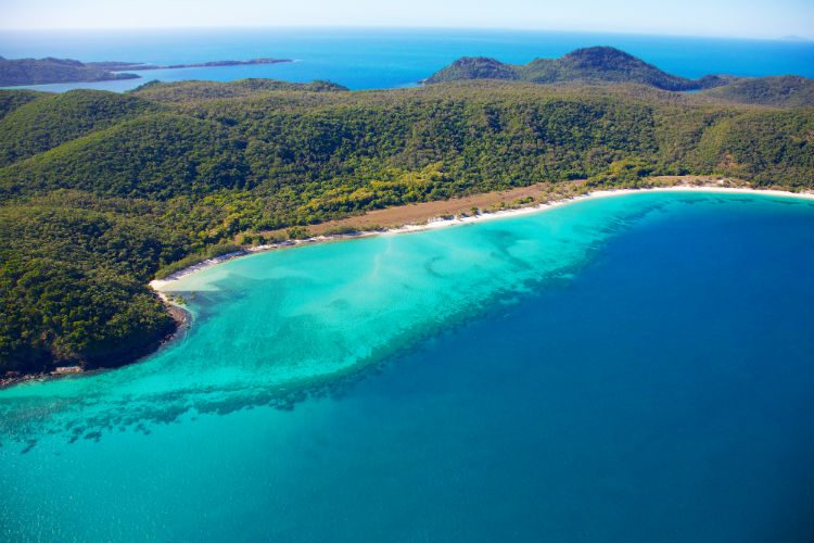 Whitsunday Bay, along the Great Barrier Reef in Queensland, Australia