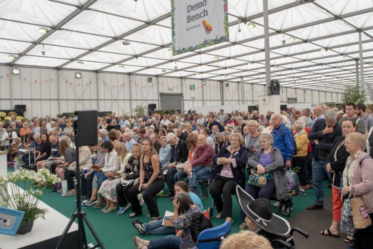 Demo Bench at BBC Gardeners' World Live 2018