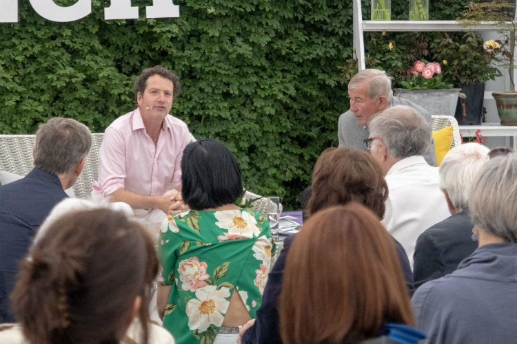 Diarmuid Gavin sharing tales of the RHS Chelsea Flower Show at BBC Gardeners' World Live 2018