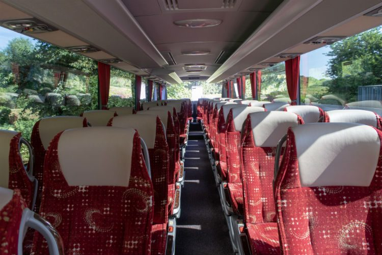 On board the clean, comfortable and well equipped National Holidays coach
