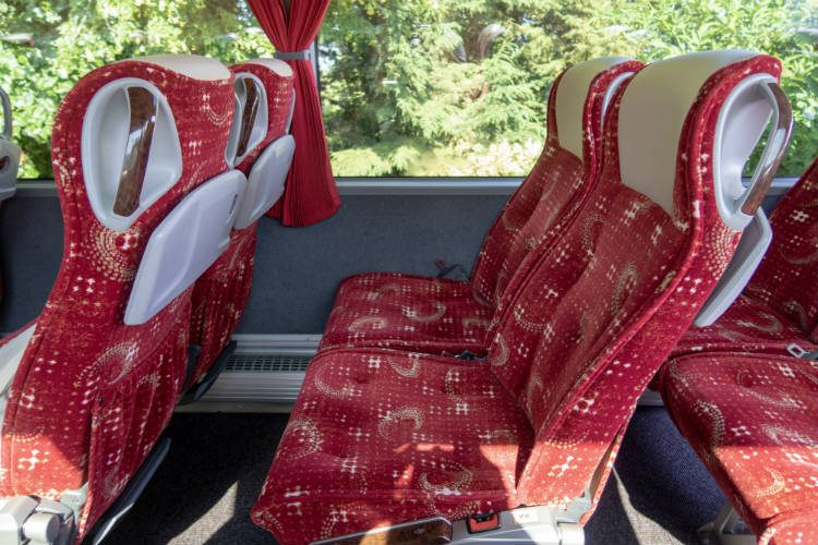 There's plenty of legroom on board the comfortable National Holidays coach