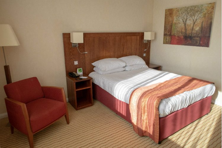 A double room at the Holiday Inn at Northampton
