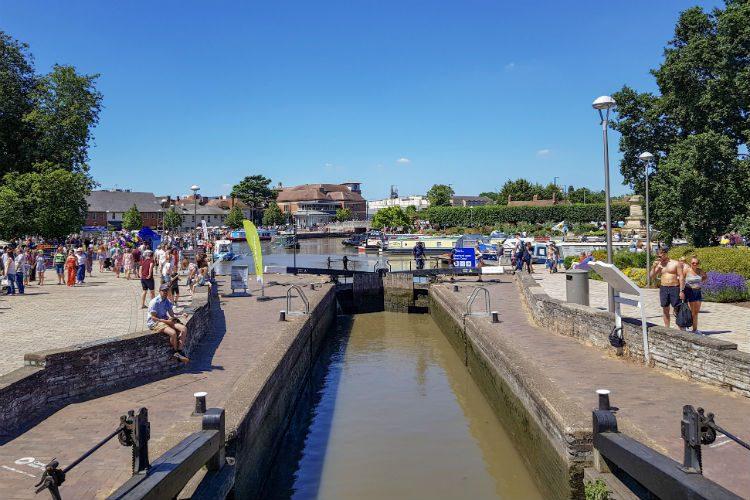The canal basin in Stratford-upon-Avon, Warwickshire