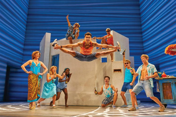 Mamma Mia! at the Novello Theatre, London