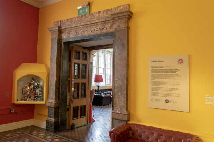 Entrance to the Edwardian Tearooms at the Birmingham Museum and Art Gallery