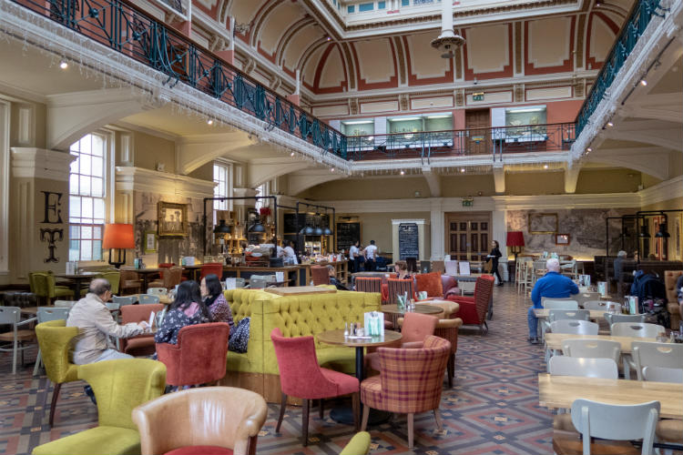The Edwardian Tearooms in the Birmingham Museum and Art Gallery