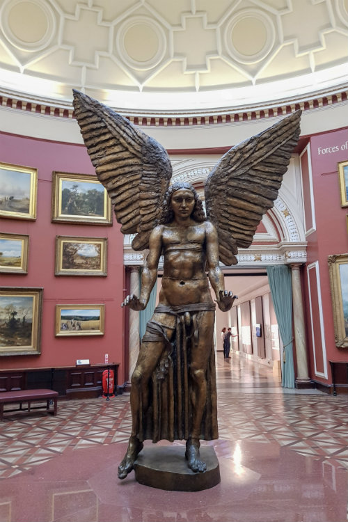 Icarus - a familiar sight at the Birmingham Museum and Art Gallery