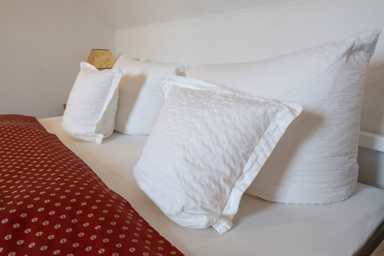 The linen used at the Hotel Drei Raben in Nuremberg, Germany is very high quality