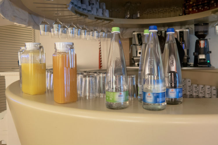 A selection of hot and cold drinks at Hotel Drei Raben