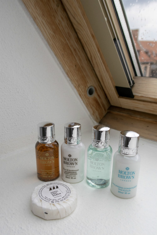 Complimentary Molton Brown toiletries provided at the Hotel Drei Raben