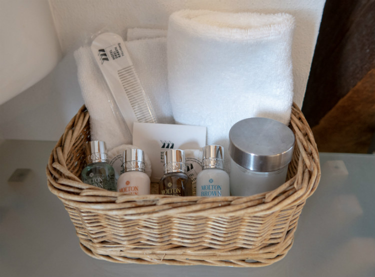 Hotel Drei Raben provides complimentary Molton Brown toiletries and useful amenities for guests staying at the hotel