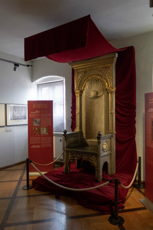 A German Emperor's throne at the Nuremberg City Museum
