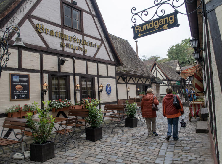 The Handwerkerhof or Craft Workers' Courtyard in Nuremberg, Germany