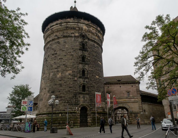 The Women's Tower and Handwerkerhof in Nuremberg, Germany