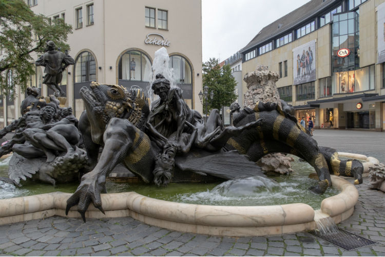 The Marriage Carousel, a controversial statue in Nuremberg, Germany