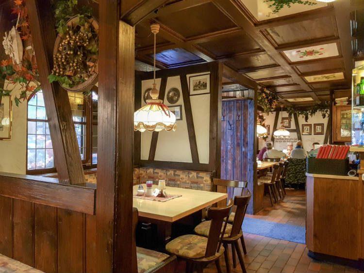 Inside the Fränkische Weinstube restaurant in the Handwerkerhof - Nuremberg, Germany