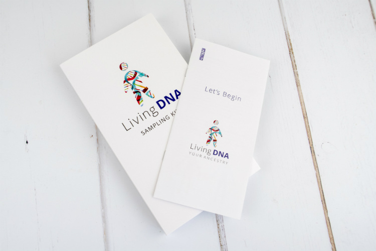 The Living DNA Sampling kit and instructions