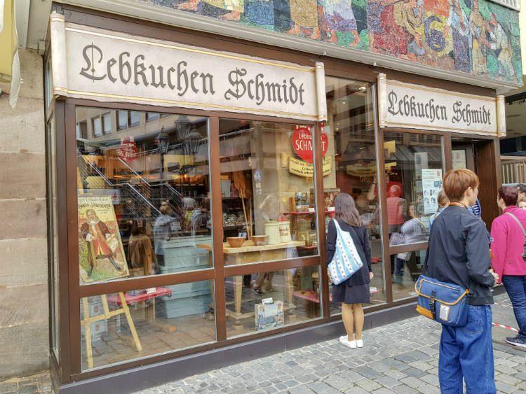 Lebkuchen Schmidt shop in Nuremberg, Germany