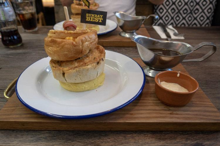 The Sunday Best pie dinner at the Pieminister restaurant in Birmingham, UK