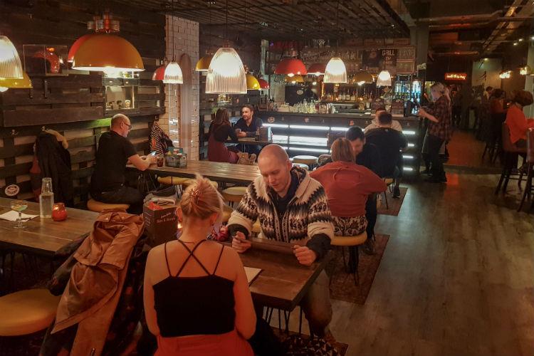 Inside Buffalo and Rye, the smokehouse restaurant in Birmingham (UK)