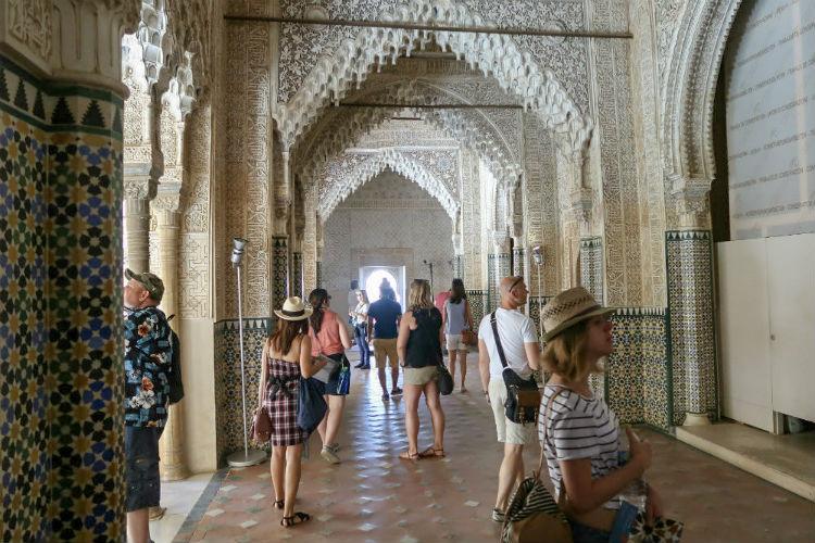 Inside the Alhambra de Granada in Spain