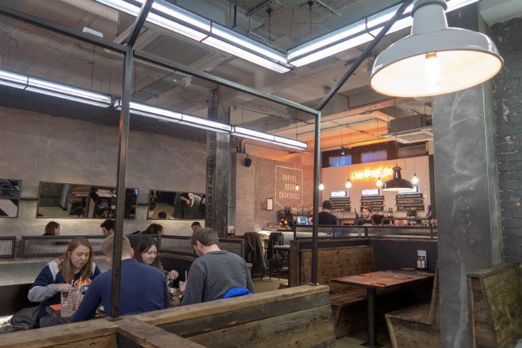 Inside the Pieminister restaurant in Birmingham, UK