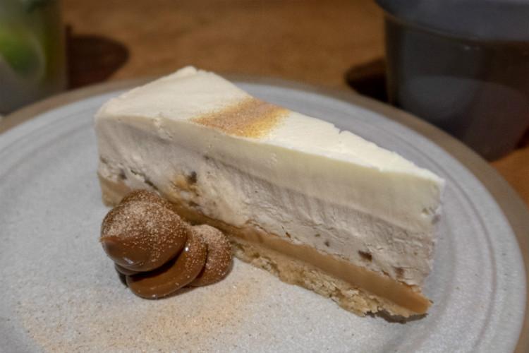 Banana and Salted Caramel Cheesecake at Botega Cantina in Birmingham, UK
