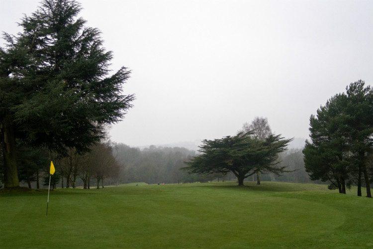 A view down the golf course at Halesowen Golf Club