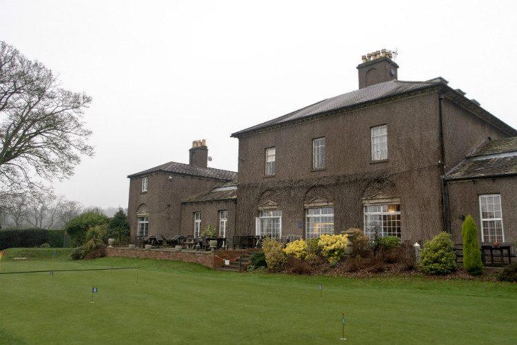 The clubhouse at Halesowen Golf Club